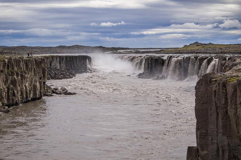The smaller, upper falls at Dettifos