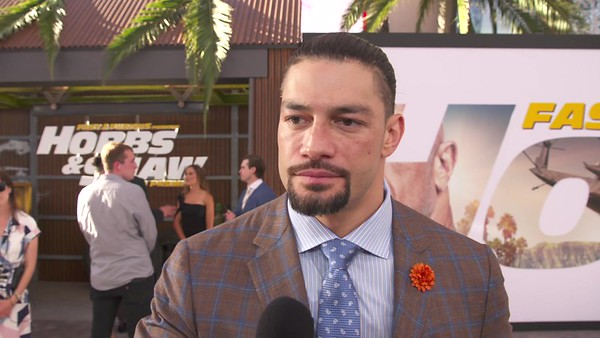 Roman Reigns -  Screencaps / Interview by Fab TV - Hobbs & Shaw Premiere