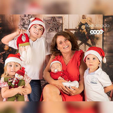 Linda y nietos, sesión de navidad