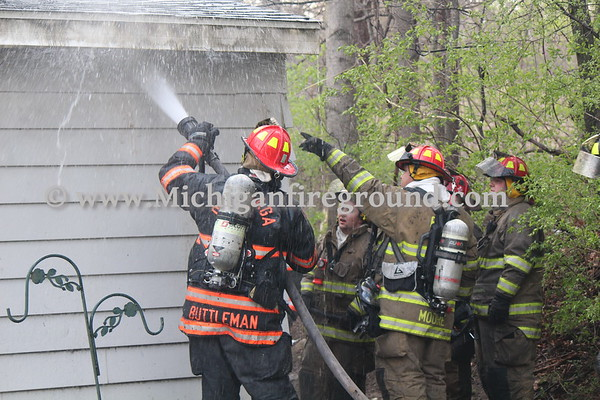 4/14/21 - Rives-Tompkins Twp house fire, 8565 Dixon Rd