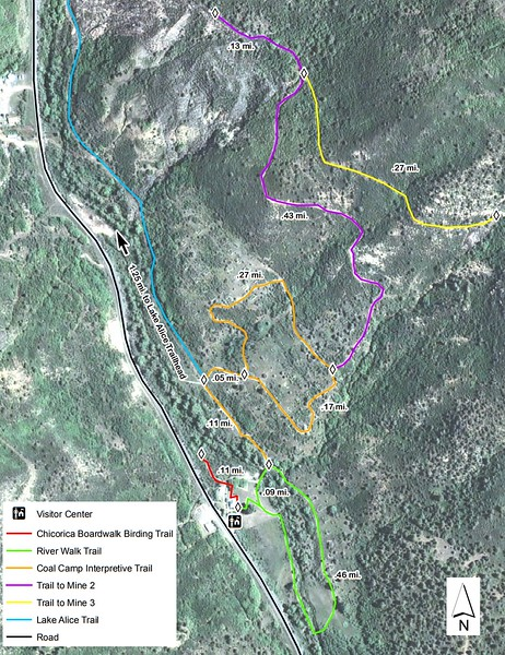 Sugarite Canyon State Park (Trail Map #1)