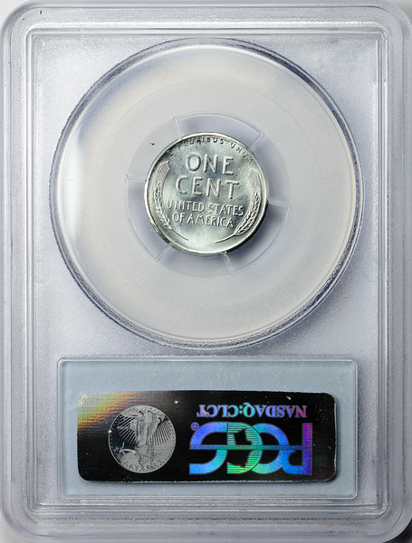 1943 S CENT - LINCOLN, WHEAT STEEL PCGS MS66 CAC Reverse