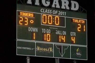 Tigard HS Varsity Football vs Tualatin