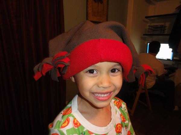 Riley's Reindeer Hat