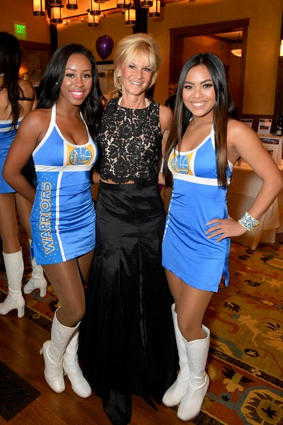 Jekailah and Kaela of Golden State Warriors Dance Team and Kathleen Woodcock.jpg