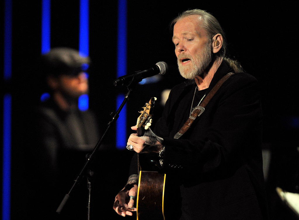 . FILE - This Oct. 13, 2011 file photo shows Gregg Allman performs at the Americana Music Association awards show in Nashville, Tenn. On Saturday, May 27, 2017, a publicist said the musician, the singer for The Allman Brothers Band, has died. (AP Photo/Joe Howell, File)