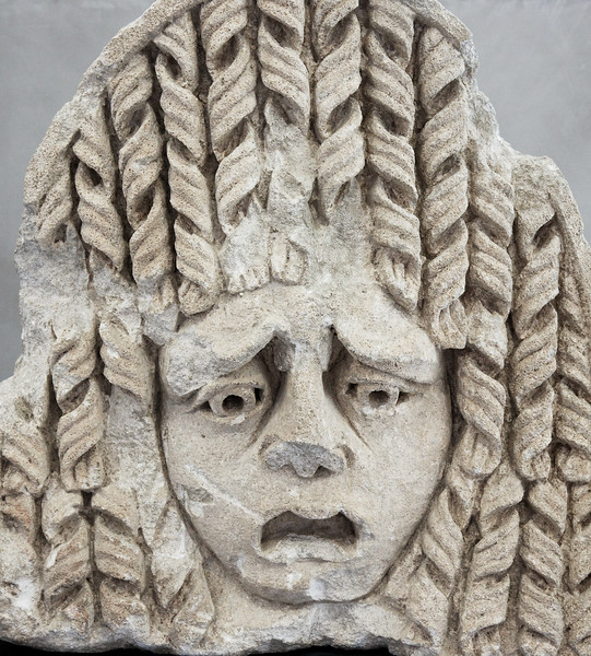 A bad Roman hair day.  A funny sculpture I found.