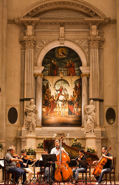 Concert in a church, Venice