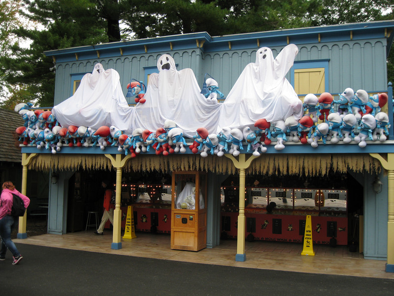 Ghosts on the Whac-a-Mole building.