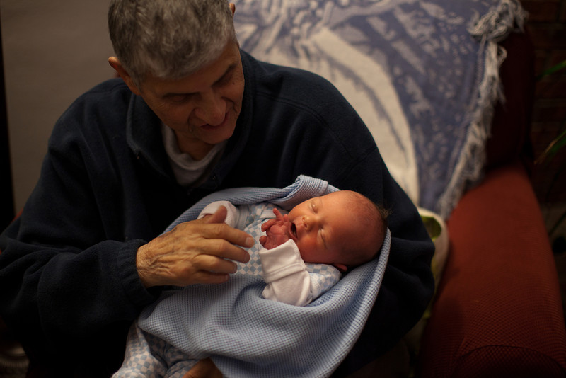 Papa Charlie holding Henry at our house in Mattoon, Illinois on November 18,  2011. (Jay Grabiec)