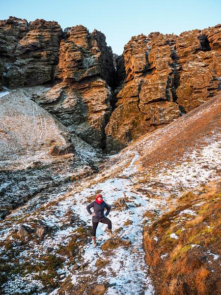 """The Crack"" canyon in Iceland (Rauðfeldargjá gorge)"