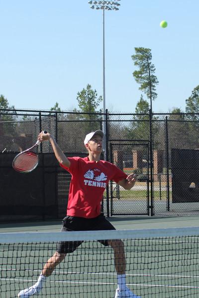 Adam Knutsson-Sundblad plays a doubles match on Saturday February 19th, 2011.