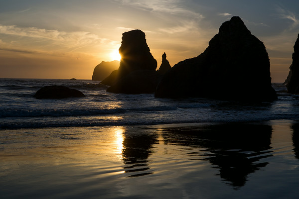 Bandon sea stacks.