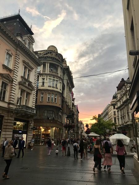 Vase Carapića pedestrian street, Belgrade