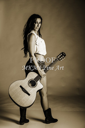 Guitar Model 1855 Black and White Photographs