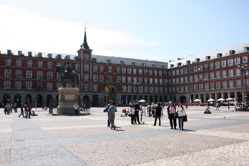 The Plaza Mayor.  I just loved this Plaza in Madrid.  So European.  So awesome.