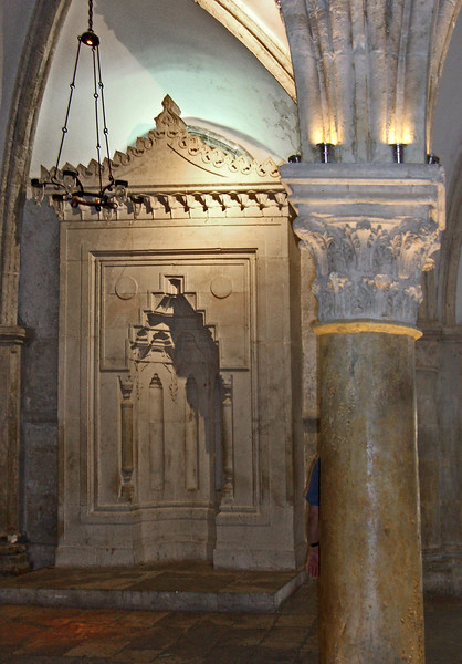 6-The mihrab in the Cenacle points in the direction of Mecca.