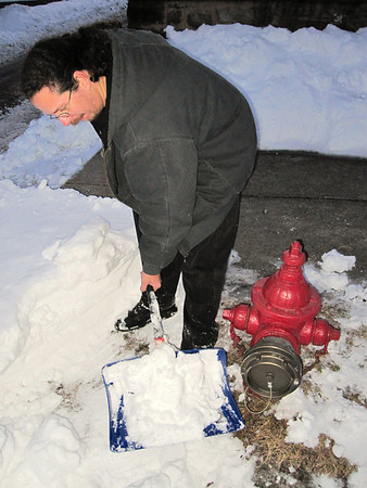 Hydrant Snow Shoveling, Tamaqua (2-11-2010)