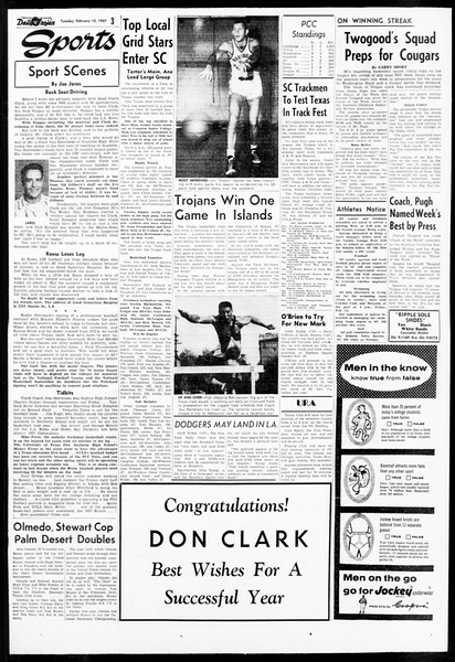 Daily Trojan, Vol. 48, No. 71, February 12, 1957