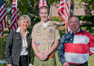 El Cajon Veterans Day Flags