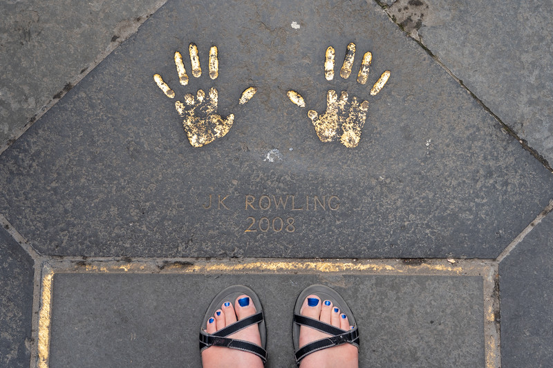 JK Rowling's handprints in Edinburgh