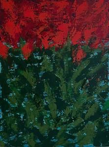 """Wild Flowers"" (acrylic on canvas) by Ksenia Janssen"