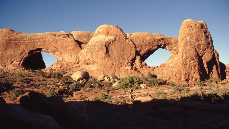 The Spectacles. Arches National Park, Utah.