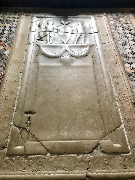 It amazes me to think that this tomb on the floor of Santa Maria e San Donato Church has been walked on so many times in over a thousand years that the engraving has basically been completely worn away!