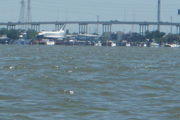 Space Shuttle Crossing Clear Lake 6-12