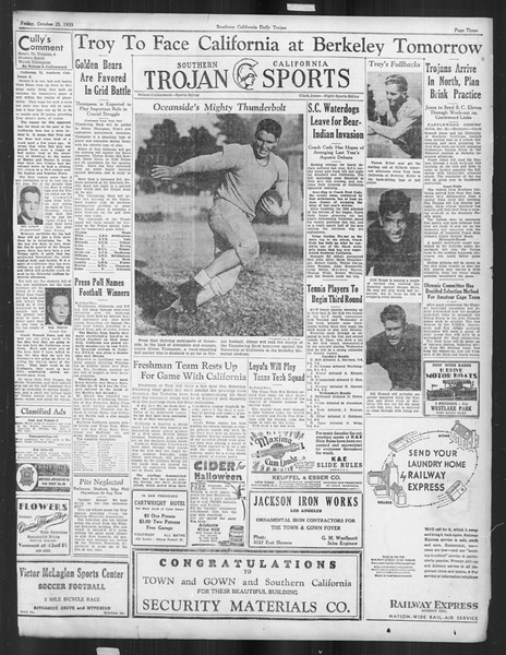 Daily Trojan, Vol. 27, No. 26, October 25, 1935