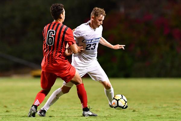 USD Mens Soccer vs CSUN, 9-21-17