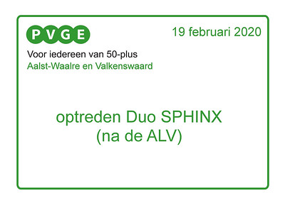 2020-0219 PVGE optreden SPHINX