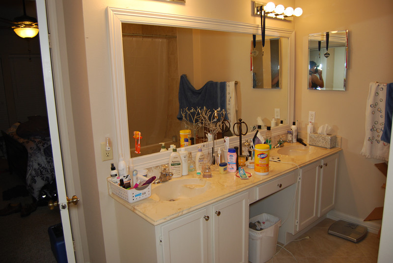 Master bath.  Who's in the mirror?  Creepy...