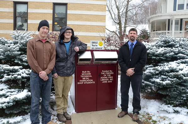 Adams Library drop box made by McCann Tech students-112613