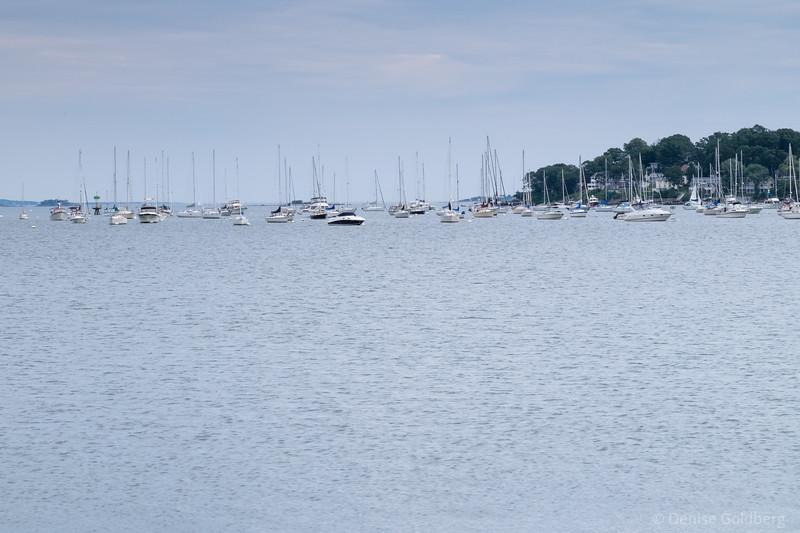 sailboats in Salem Harbor