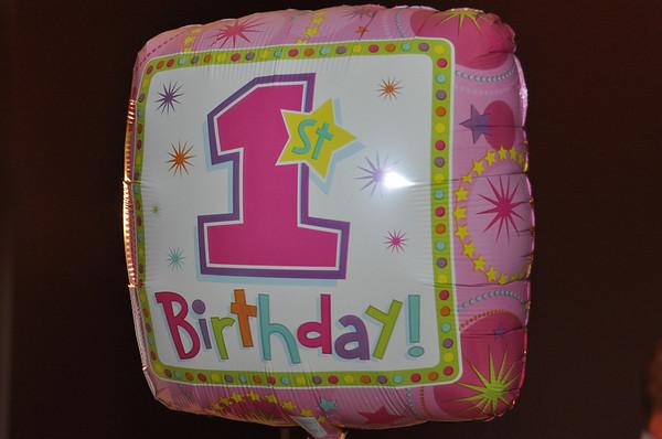 Shaina's First Birthday
