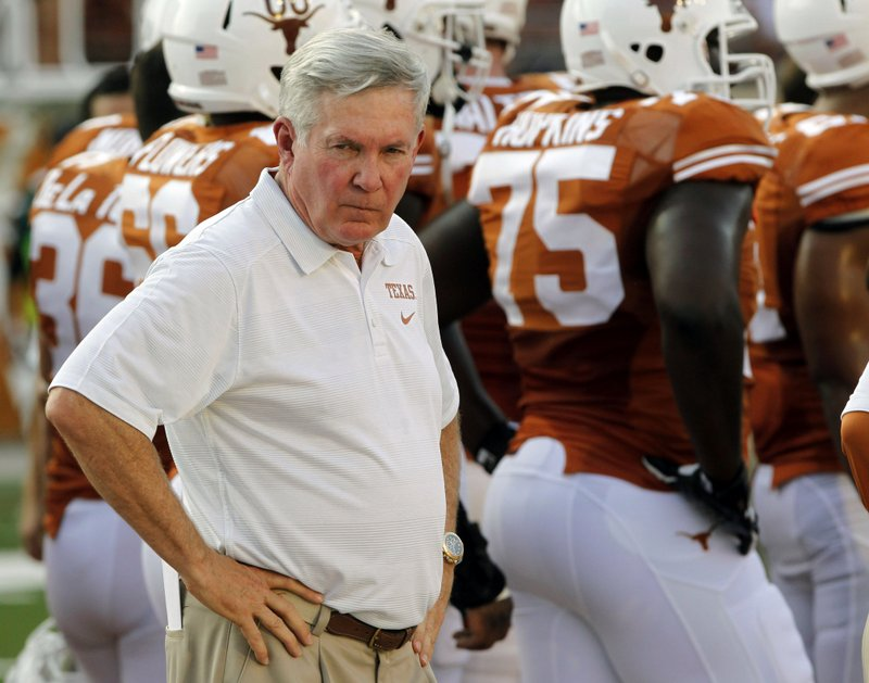 ". <p>10. (tie) MACK BROWN <p>ESPN�s Longhorn Network will have exclusive coverage next week when Coach is drawn and quartered. (previous ranking: unranked) <p><b><a href=\'http://www.usatoday.com/story/sports/ncaaf/big12/2013/09/15/college-football-analysis-last-days-of-mack-brown-at-texas/2816551/\' target=""_blank\""> HUH?</a></b> <p>    (AP Photo/Michael Thomas)"