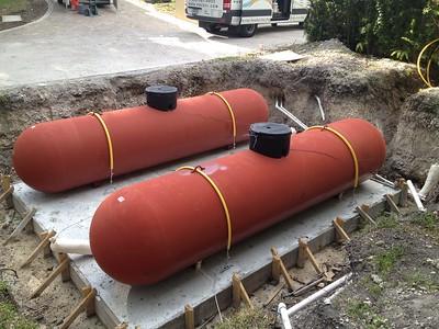 Two 1000 gallon tanks. Gables Estates. Coral Gables, FL