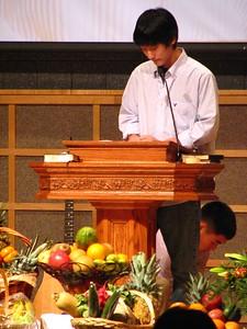 Thanksgiving Family Worship Service