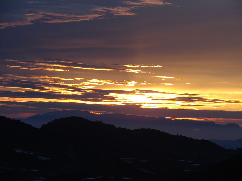 Sunrise over The cameron Highlands from our bedroom window (6).JPG