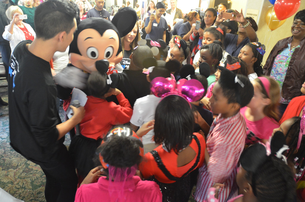 . Kids from Stevenson Elementary School Southfield got a chance to meet with Mickey Mouse at the 85th birthday anniversary party organized by Disney On Ice.