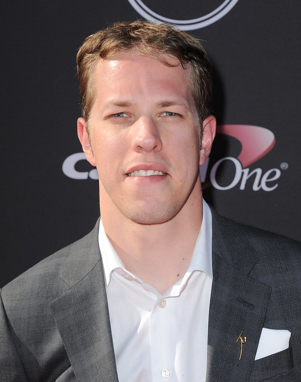 . NASCAR driver Brad Keselowski arrives at the ESPY Awards on Wednesday, July 17, 2013, at Nokia Theater in Los Angeles. (Photo by Jordan Strauss/Invision/AP)