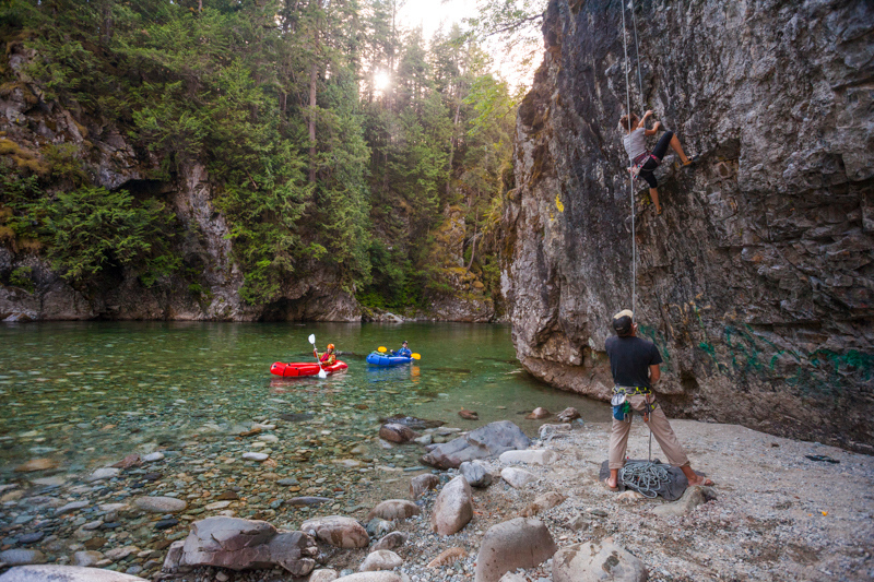 Outdoor adventure mecca along the Chehalis River, British Columbia, Canada.