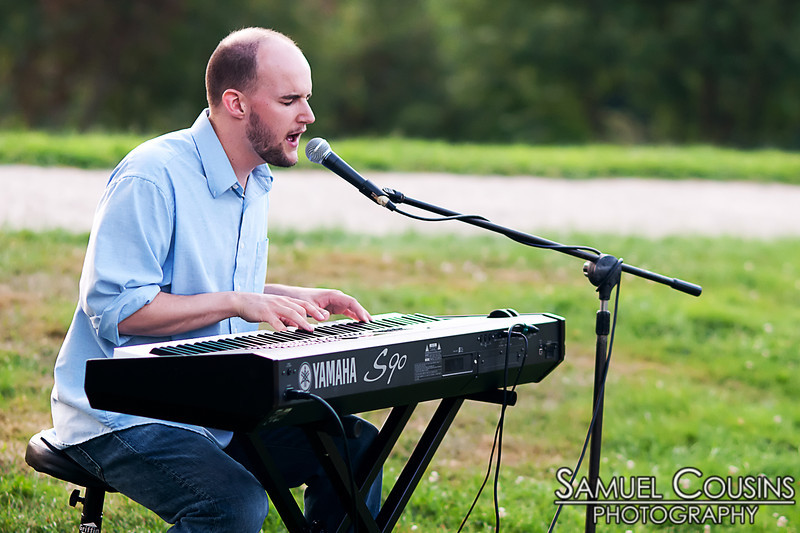 Will Gattis playing at the Western Prom Sunset Concert Series