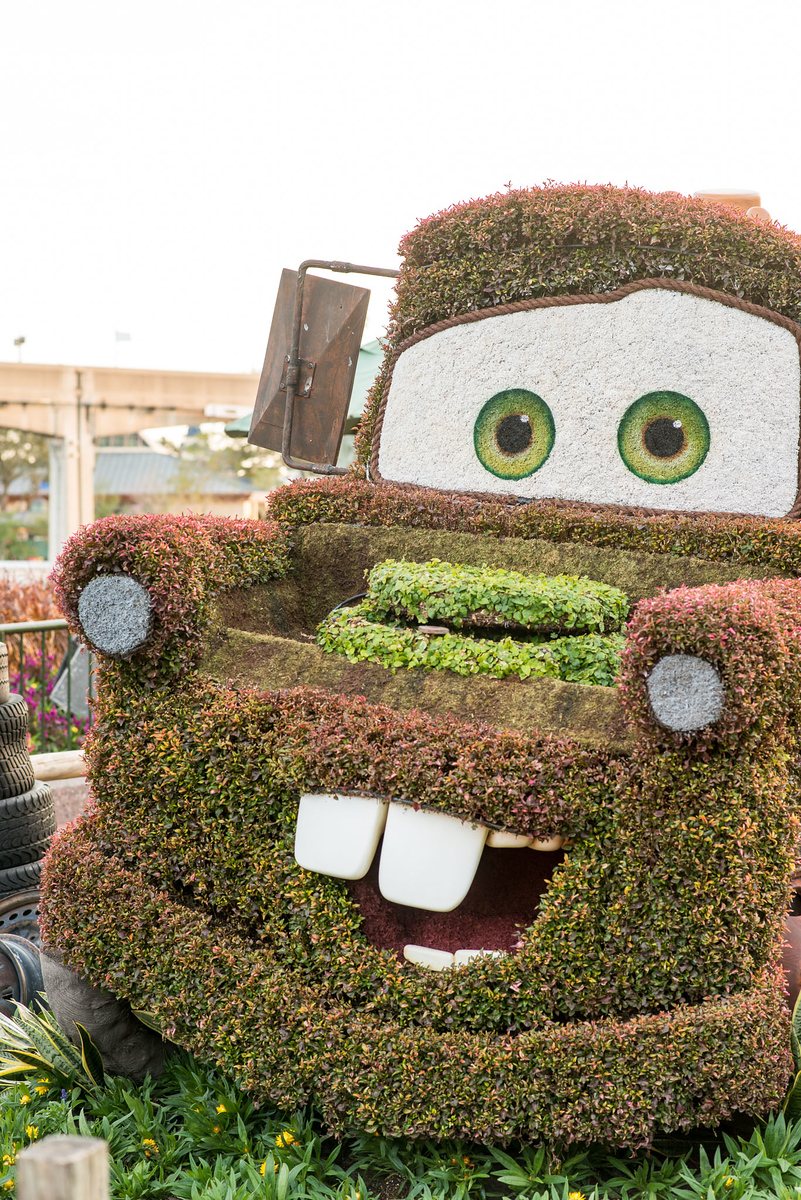 Mater Topiary Close-up - Epcot Flower & Garden Festival 2016