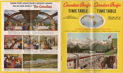 1960 April 24 Canadian Pacfic Railway Timetable