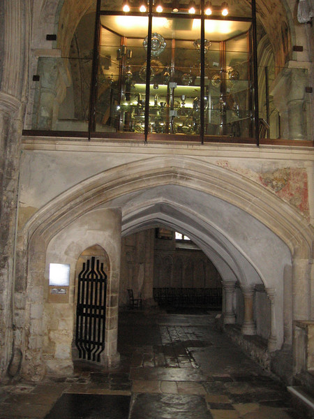 Reliquary Arch--Norwich Cathedral. Originally used to display relics, it now houses the Cathedral's Treasury.