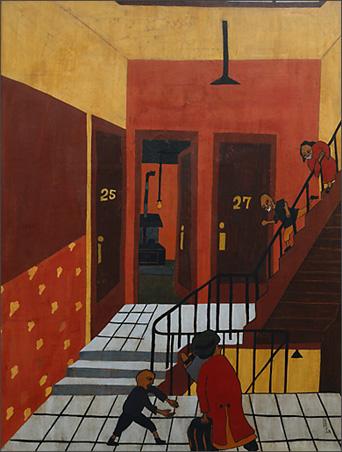 """Jacob Lawrence, """"The Homecoming"""" (1936)"""