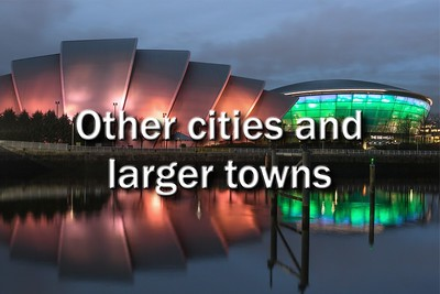 Other cities and larger towns