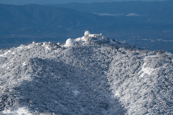 Lick Observatory in Snow